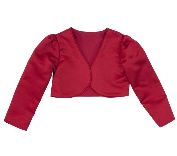 Girls Long Sleeve Red Bolero