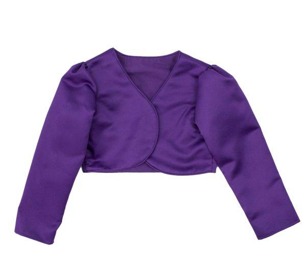 Girls Long Sleeve Purple Bolero