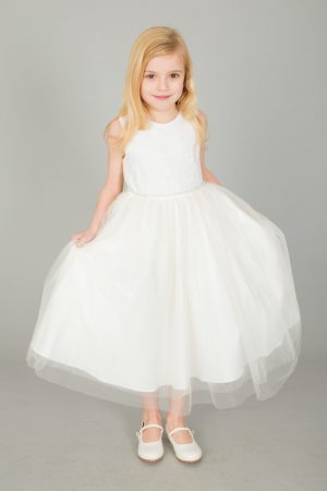 Girls Ivory Dress Anna