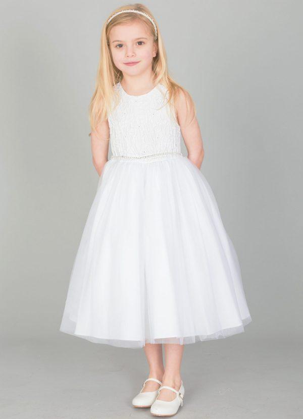 Girls White Dress Anna