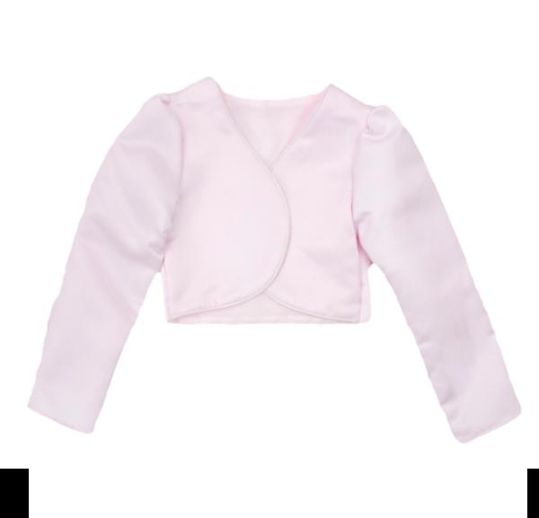 Girls Long Sleeve Baby Pink Bolero
