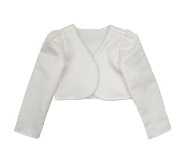 Girls Long Sleeve Cream Bolero