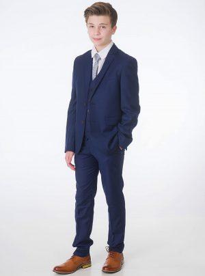 Baby Boys 5 Piece Navy Milano Mayfair Suit