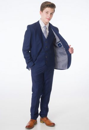 Boys 5 Piece Navy Milano Mayfair Suit - Maxwell