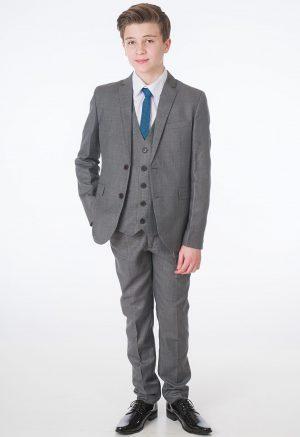 Boys 5 Piece Grey Milano Mayfair Suit