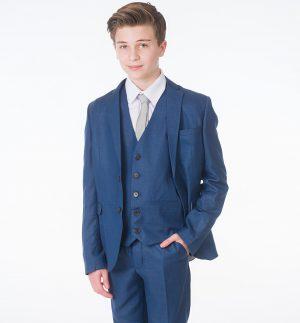 Boys 5 Piece Blue Milano Mayfair Suit