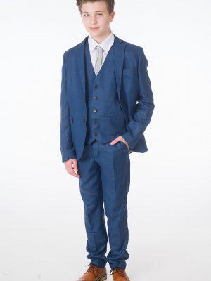 Baby Boys Suits Boys 5 Piece Blue Milano Mayfair Suit