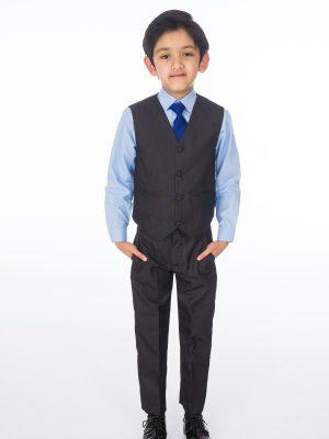 Baby Boys Suits Boys 4 piece Suit Charcoal Grey Romario