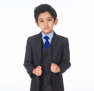 Boys 5 piece suit Grey Charcoal Romario