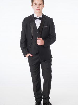 Baby Boys Suits Boys 5 Piece Black Tuxedo Suit Milano Mayfair