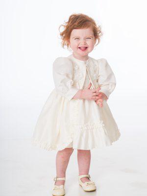 Baby Girls Dresses Baby Girls Ivory Flower Jacket Dress