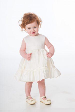 Baby Girls Ivory Flower Jacket Dress