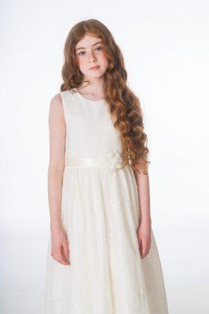 Girls Clara Ivory Dress