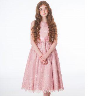 Girls Clara Rose Pink Dress