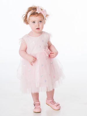Baby Girls Dresses Baby Girls Pink Sequin Heart Dress