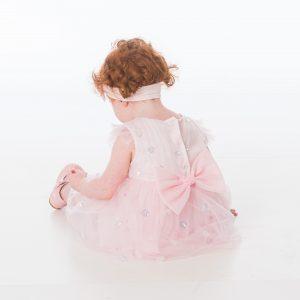 Baby Girls Pink Sequin Heart Dress