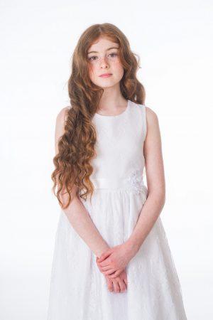 Girls Clara White Dress