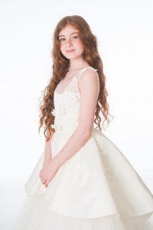 Girls Grace Ivory Dress