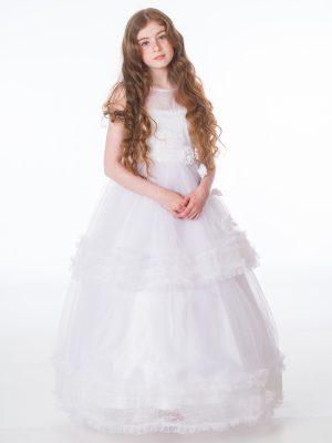Communion Dresses Girls Maya White Dress