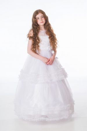 Girls Maya White Dress