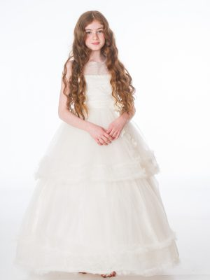Flower Girl Dresses and Bridesmaid Dresses Girls Ivory Maya Dress