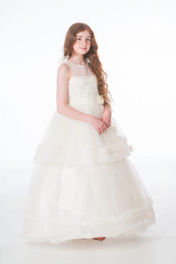 Girls Ivory Maya Dress