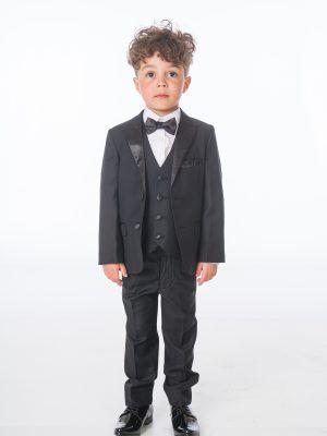 Baby Boys Suits Baby Boys 5 Piece Black Tuxedo Suit Milano Mayfair