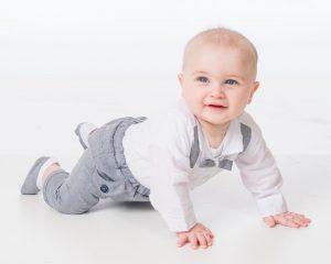 Baby Boys Grey Brace Bow Tie Outfit