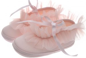 Early Steps Girls Pink Ruffle Soft