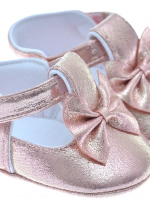 Girls Shoes Early Steps Girls Pink Soft Bow Shoe