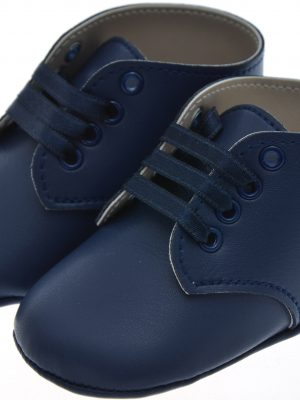 Boys Shoes Early Steps Navy Baby Lace