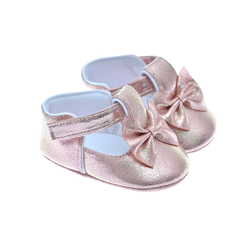 Early Steps Girls Pink Soft Bow Shoe