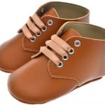tan brown baby lace shoes