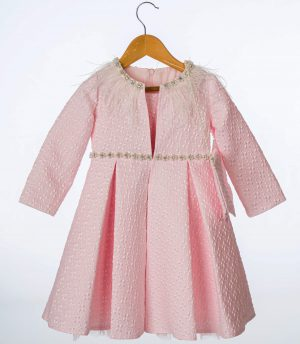 Girls Feather Jacket and Dress