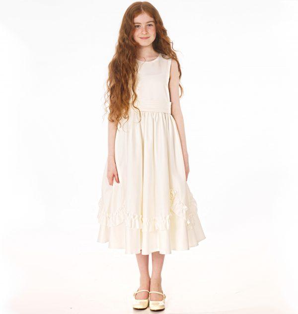 Girls Ivory Dress Olivia