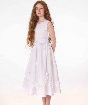 Girls White Dress Olivia