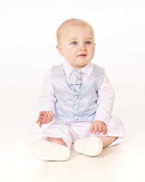 4 Piece Blue Romeo Christening Suit in