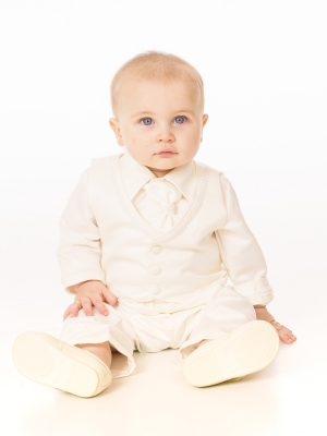 Baby Boys Suits 4 Piece Christening Suit in Ivory
