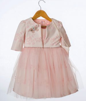 Girls Pink Butterfly Jacket and Dress