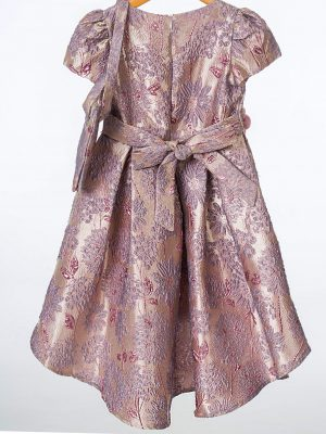 Girls Girls Purple Floral Shimmer Dress