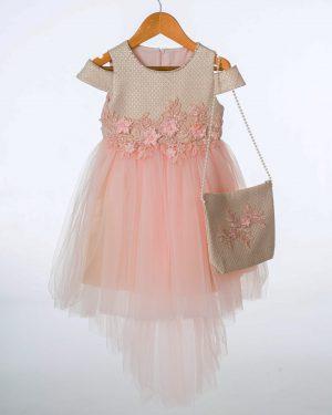 Girls Pink Shimmer Dress