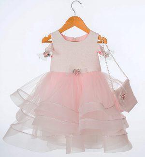 Girls Pink Rose Dress