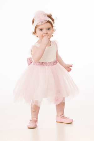 Baby Girls Floral Sequin Dress
